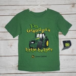 New John Deere I'm Grandpa's little helper Size 2T